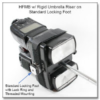Horizontal Flash Mounting Bracket (HFMB) with Rigid Umbrella Riser on Standard Locking Foot