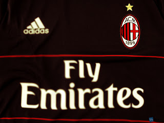 AC Milan Black Adidas Uniform HD Wallpaper