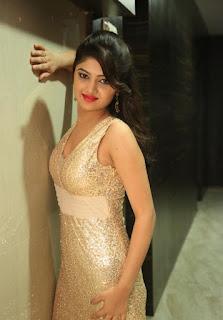 Pallavi new telugu actress dazzling Golden Sleelvess Dress at Seethamma Andalu Ramayya Sitralu audio launch