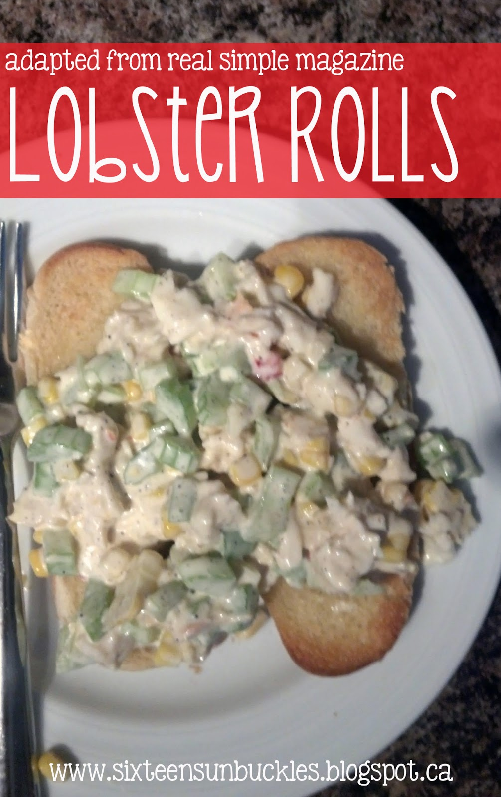 sixteen sunbuckles: {recipe of the week} Real Simple's Lobster Rolls