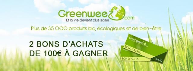 2 bons d'achats de 100€ à gagner sur Greenweez.com