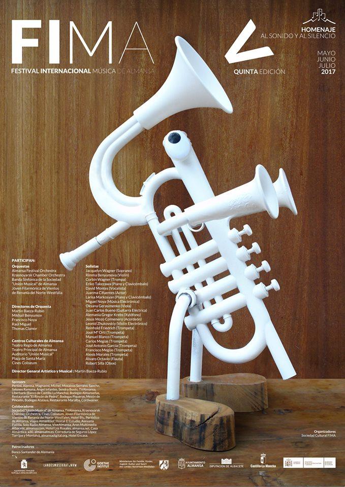 V FESTIVAL INTERNACIONAL DE MUSICA DE ALMANSA DE MAYO A JULIO DEL 2.017