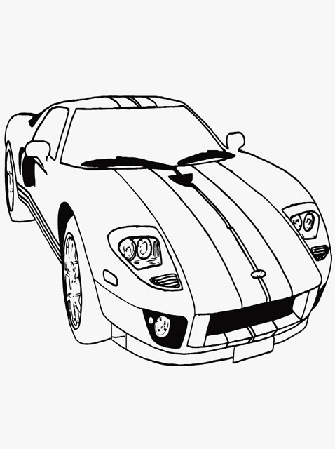Simple Car Coloring Pages Printable