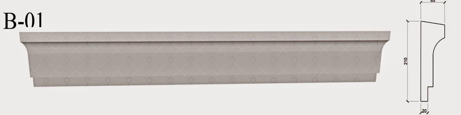 Brau Decorativ din Polistiren pentru Fatade Case producator profile decorative personalizate