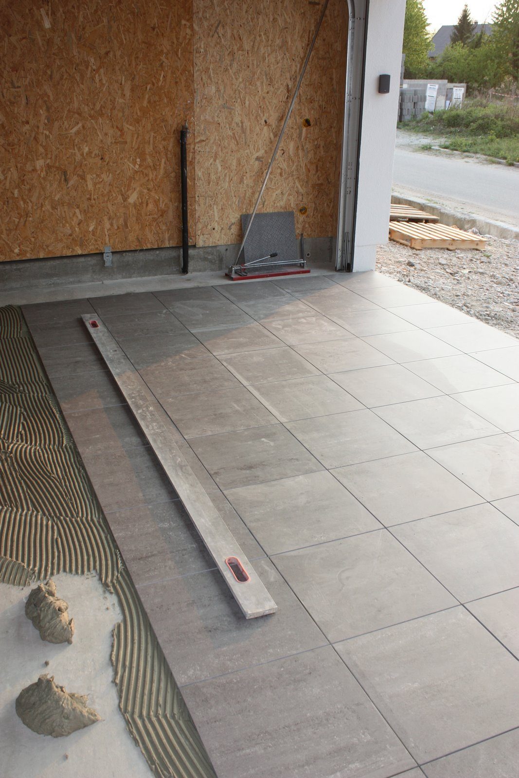 Mob ossature bois isolation energie domotique for Carrelage garage