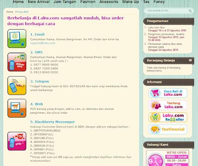 Pelayanan belanja online grosir eceran di Laku.com