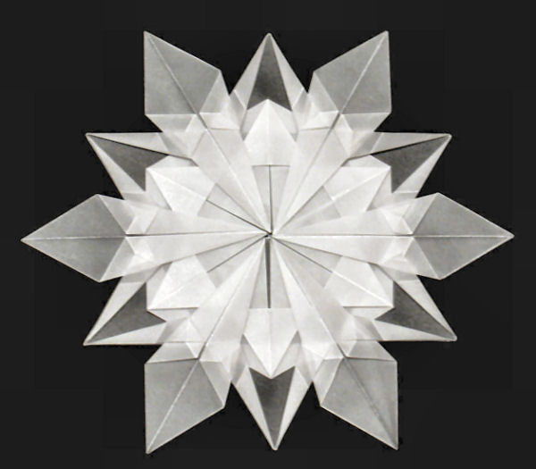 how to make origami snowflakes