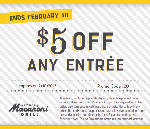 High Value Olive Garden And Macaroni Grill Coupons Utah