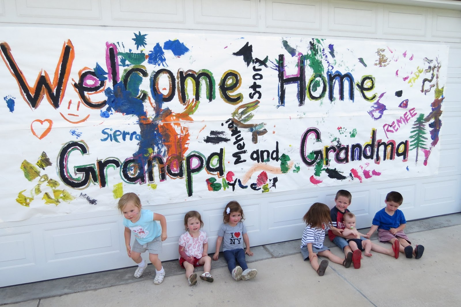 Welcome home grandma pictures.