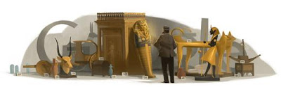 138th Birthday of Howard Carter - Google Doodle