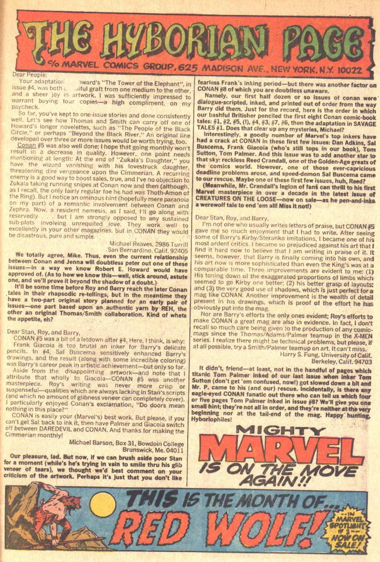 Conan the Barbarian (1970) Issue #9 #21 - English 21