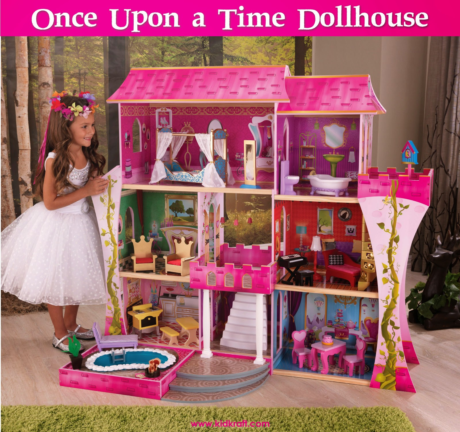 Kidkraft toys furniture new once upon a time dollhouse for Playmobil basteln