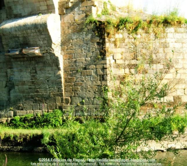 Pilares del Puente Romano de Ourense