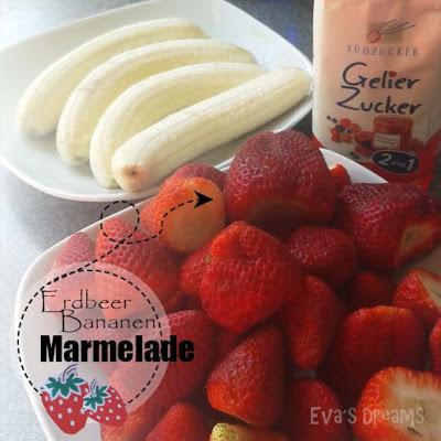 DIY Rezept: Erdbeer, Bananen Marmelade