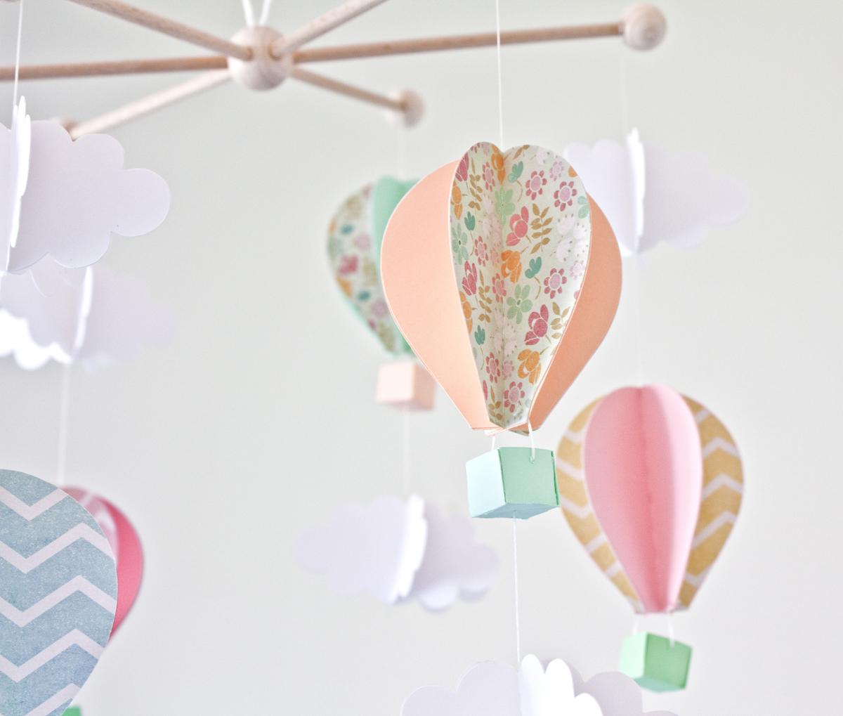 Sonrisas de papel m vil infantil de globos de papel diy - Papel para techos ...