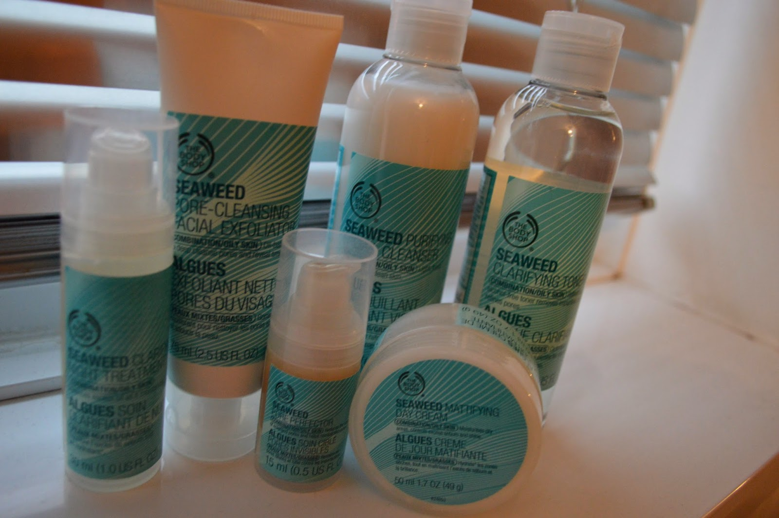 The Body Shop seaweed skincare collection
