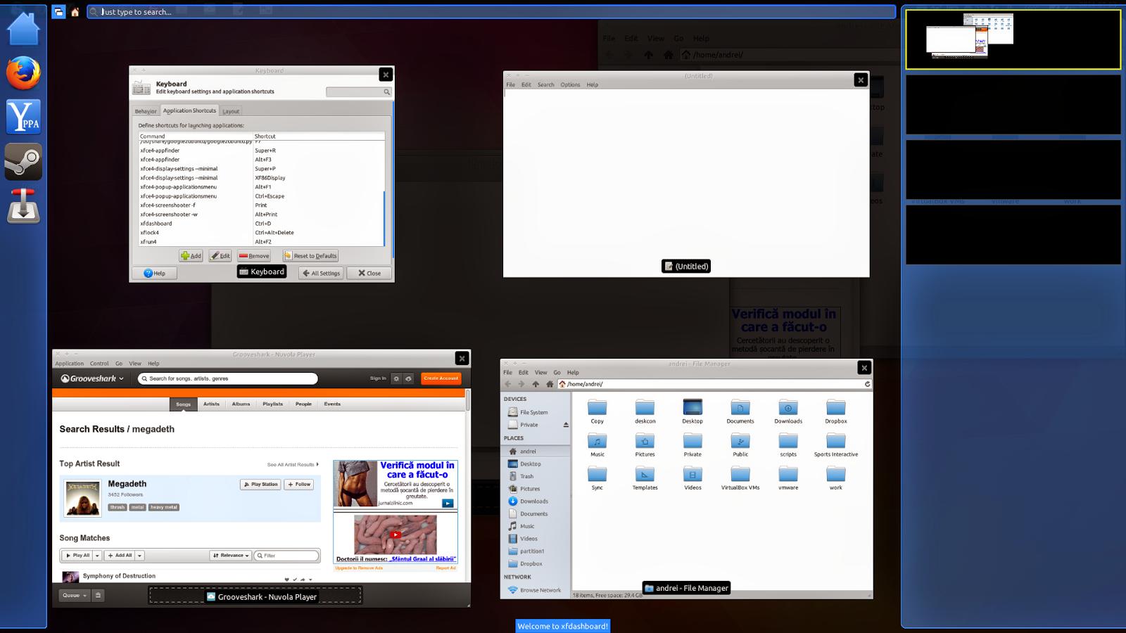 XFdashboard no Xubuntu