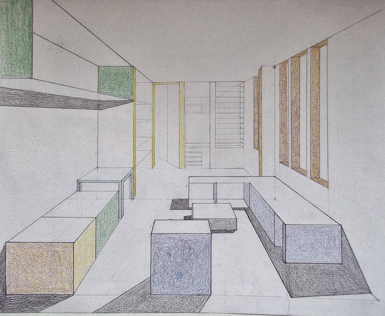 arquitectura y dise o perspectiva de espacio interior