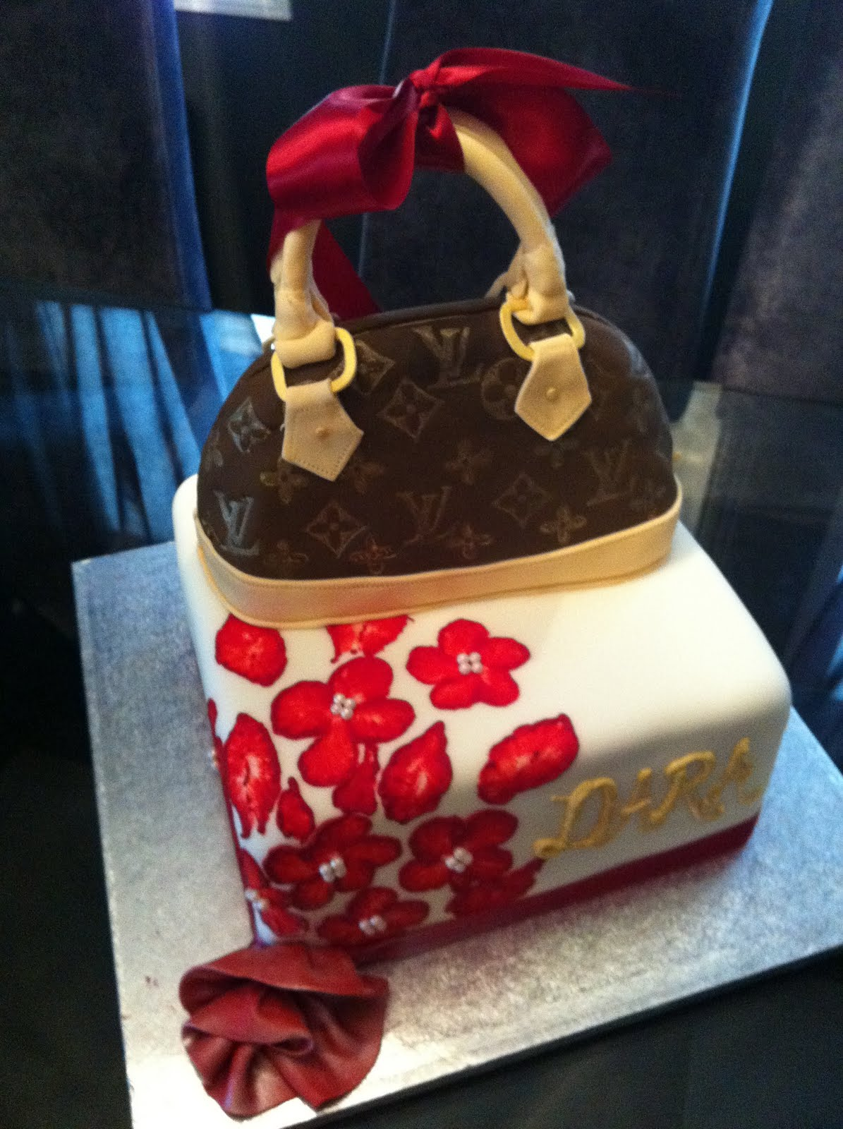 Jocelyns Wedding Cakes And More Louie Vuitton Purse Cake40th