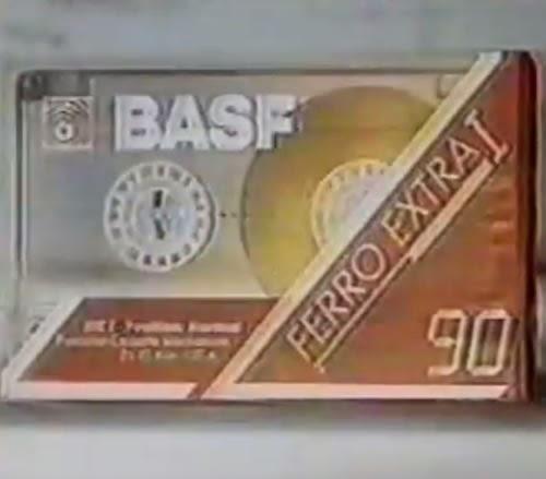 Propaganda das Fitas Cassete da BASF nos anos 80. Comercial produzido e veiculado na Argentina.