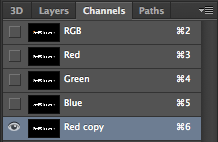 The Channels tab in Photoshop.