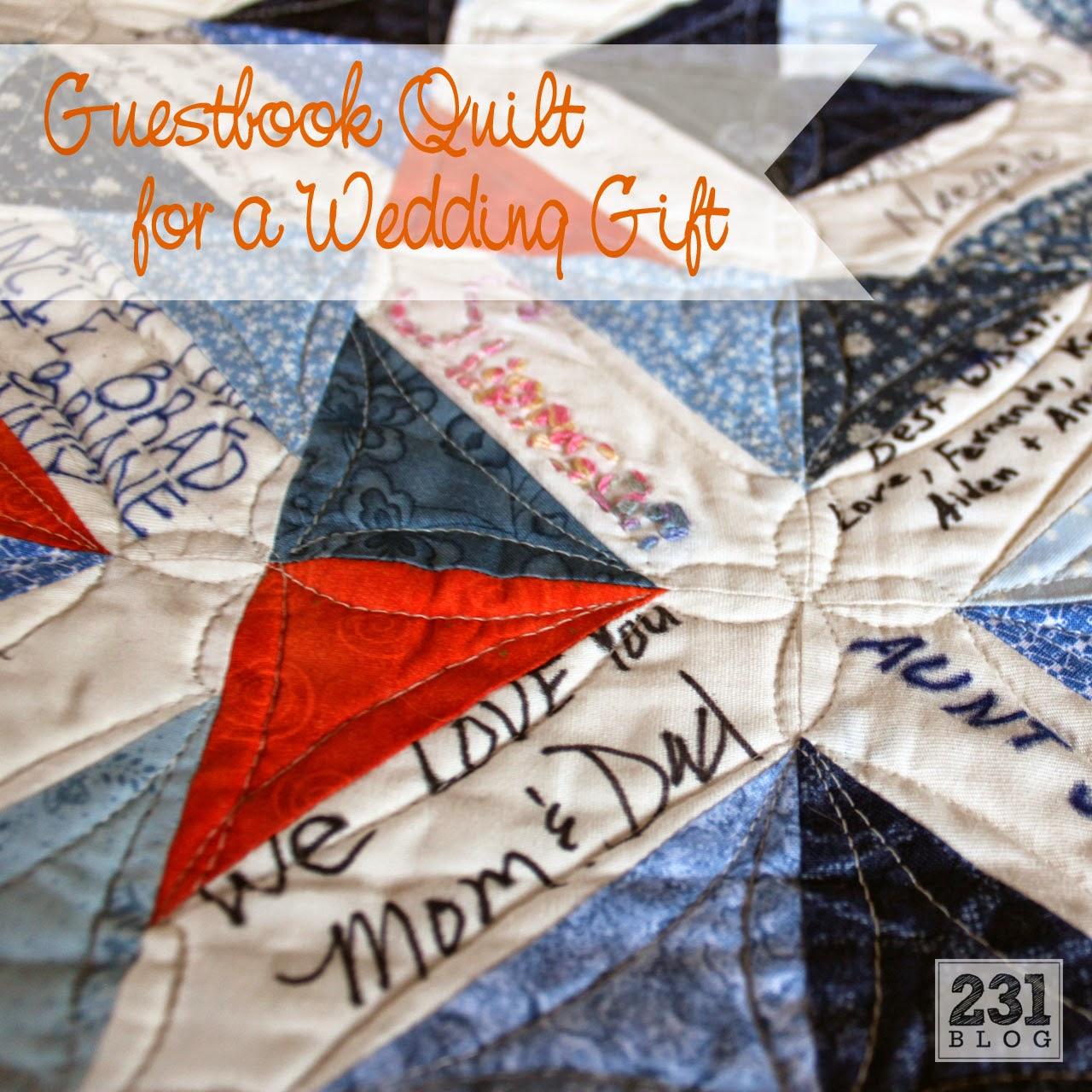 guestbook wedding quilt
