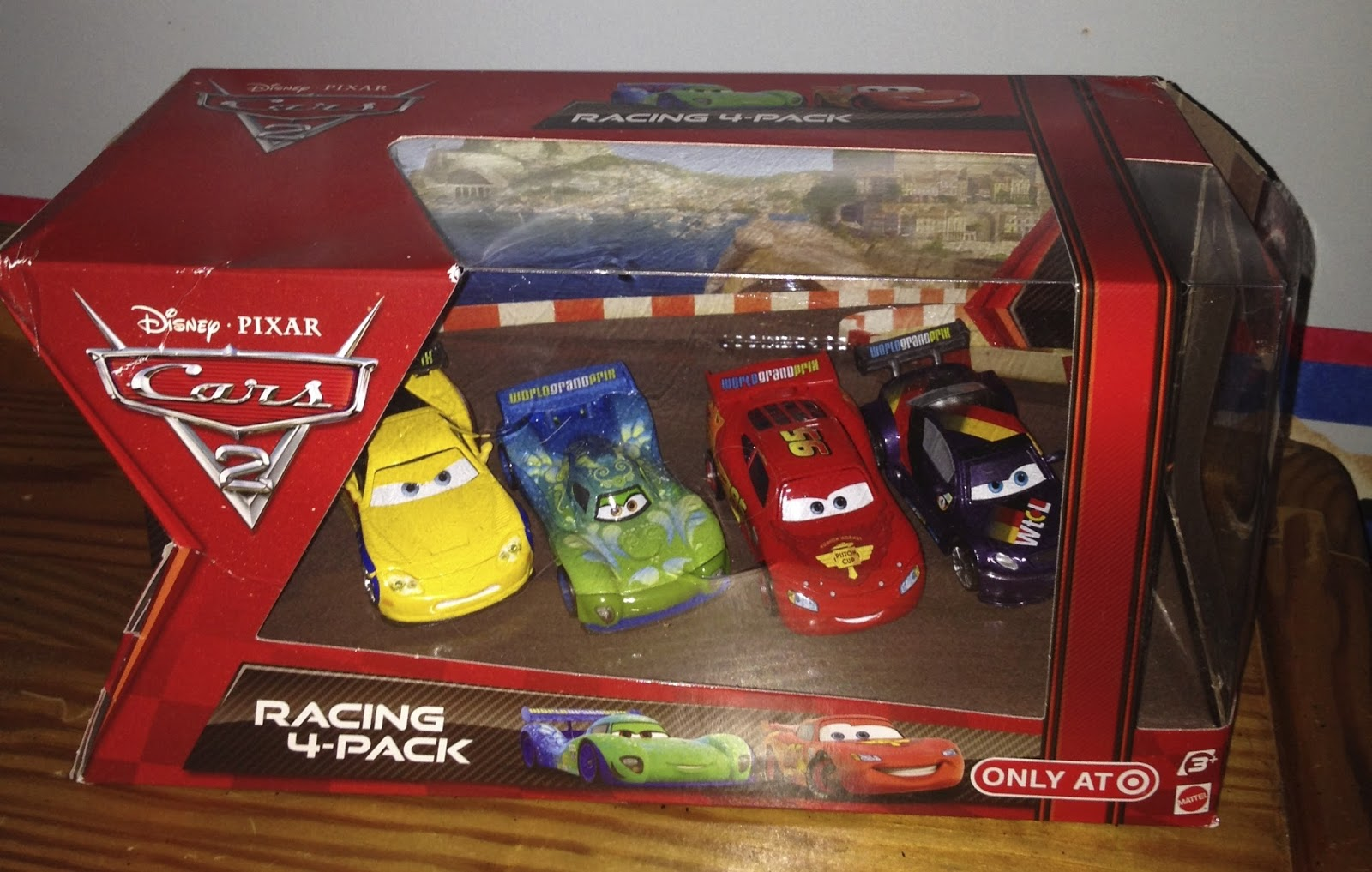 cars 2 target racing 4-pack disney pixar