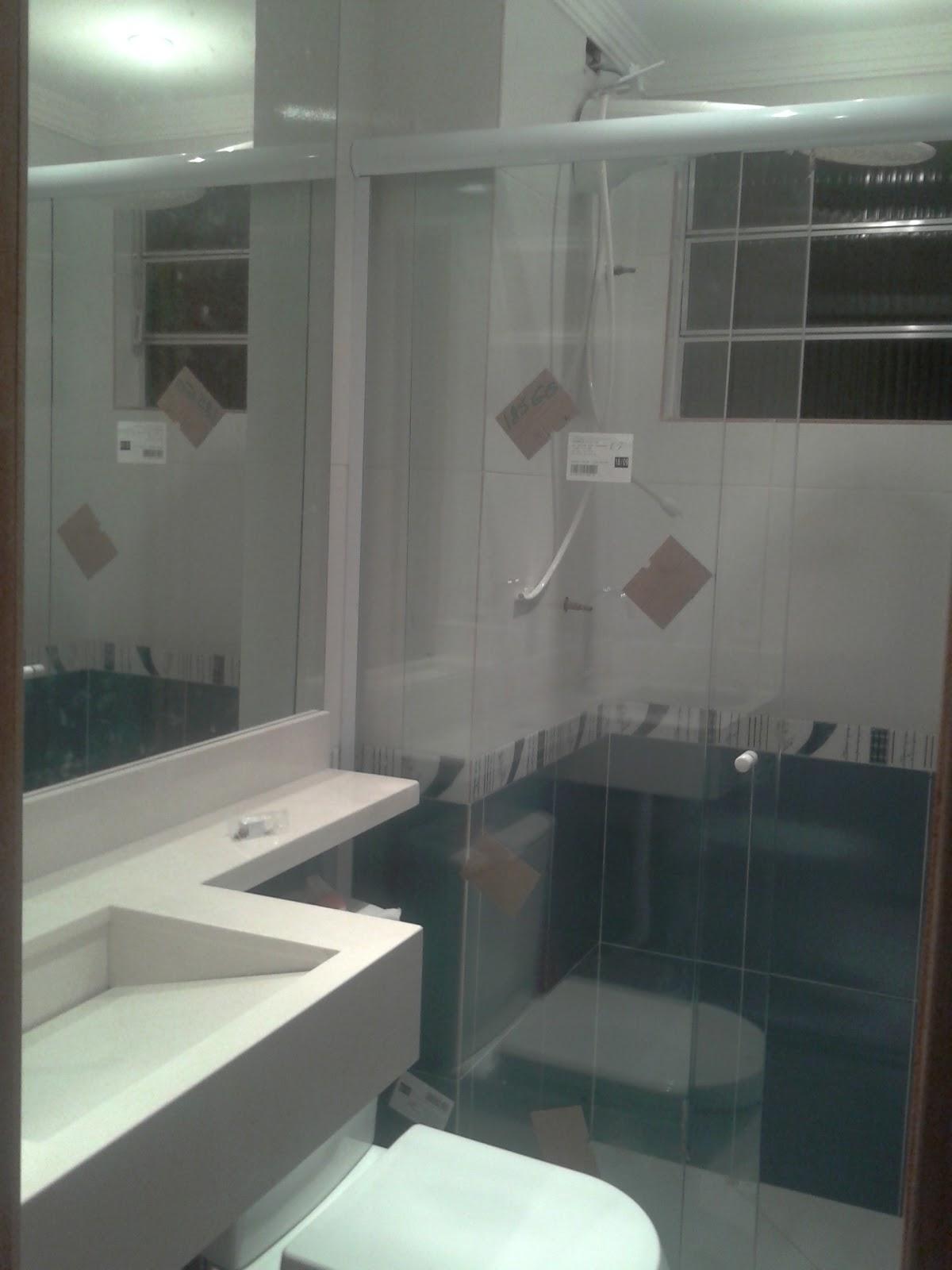 Fabuloso Sa e Eric e nosso Ap: box e espelho e antes e depois do banheiro HS26