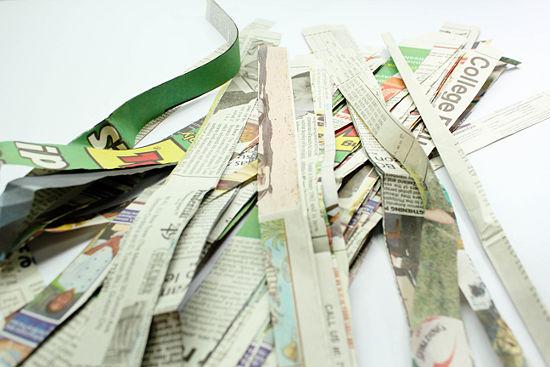 paper mache for newspaper strips
