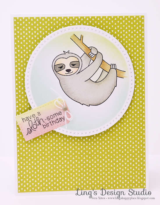 Sloth Birthday Card by Vera Yates | In Slow Motion Stamp set by Newton's Nook Designs