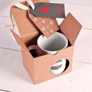 Boîte en carton pour des tasses et mugs, selfpackaging, self packaging, selfpacking