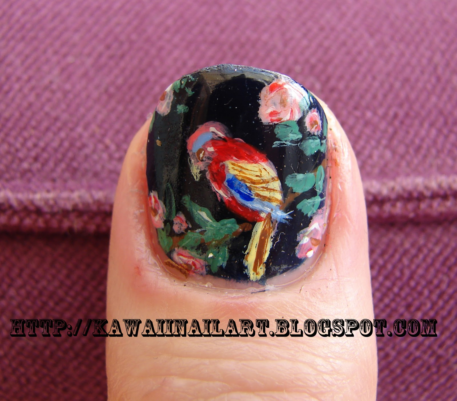 Nail Arts By Rozemist Cath Kidston Vintage Inspired: Kawaii Nail Art: Cath Kidston Inspired British Birds And