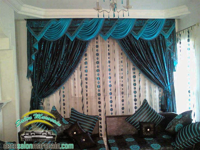 Rideaux salon occultant bleu incomparable 2014 - Boutique Salon ...