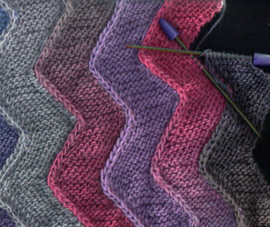 Kathleen Valentines Blog - Knitting the Ten Stitch Zigzag Shawl - March ...