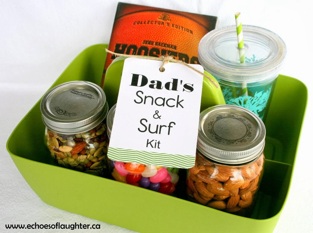 Dad's Christmas Gift Idea:Snack & Surf Kit
