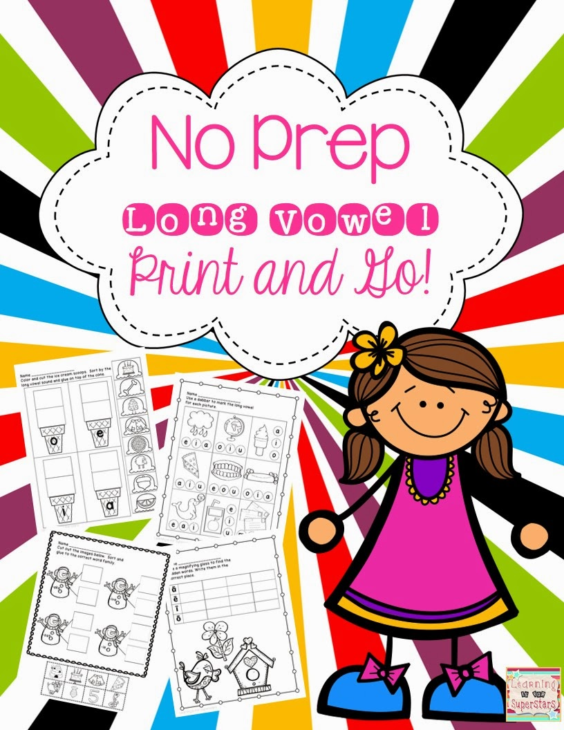 http://www.teacherspayteachers.com/Product/Long-Vowel-Printables-1079606