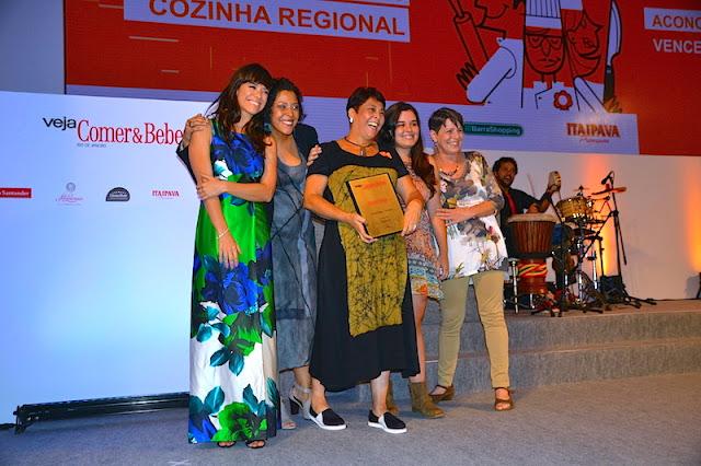 Vencedores da categoria Restaurante Regional: Aconchego Carioca