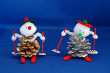 Pinecone Skier Ornament