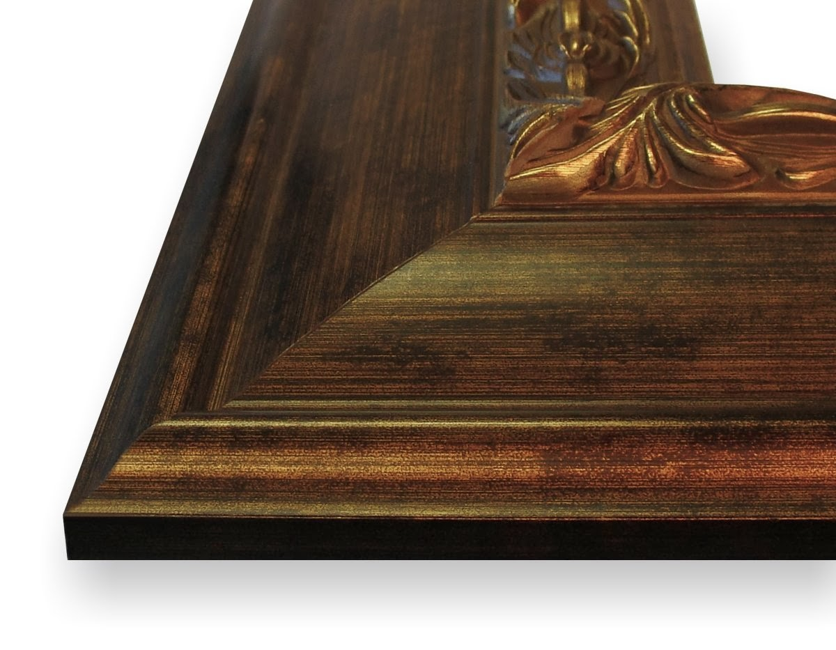 20x28 picture poster frame ornate wood grain finish