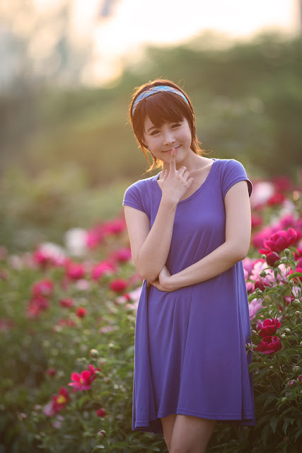 6 kim Ji Min in Blue-very cute asian girl-girlcute4u.blogspot.com