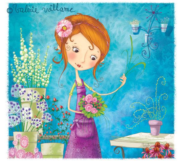 Val rie willame la petite fleuriste - Fleuriste dessin ...
