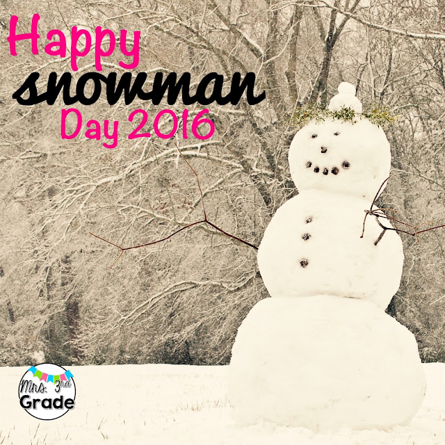 Snowman day math, writing and reading activities shared by Mrs 3rd Grade