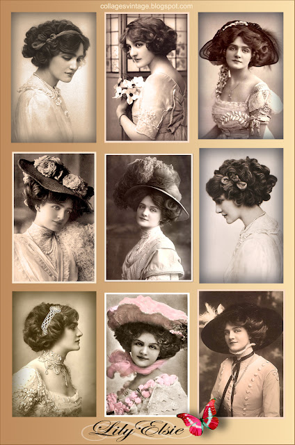 collage vintage fotos antiguas