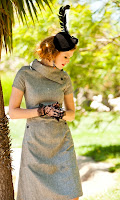 Shabby Apple Gray Panthera Dress
