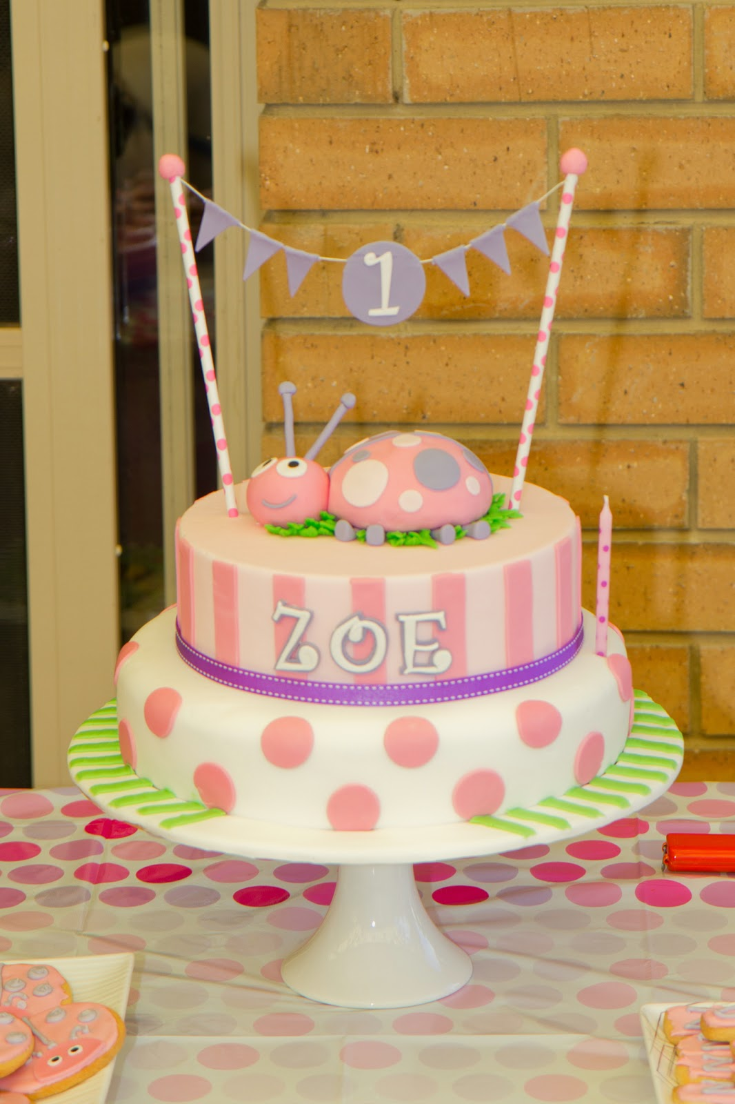 Things By Deb Zoes First Birthday Ladybug Cake