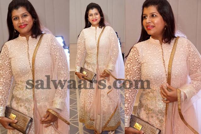 Nikitha Reddy Net Weave Salwar