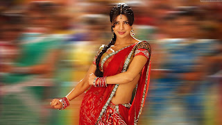 Priyanka chopra in red color saree desi girl photos