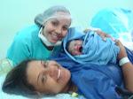 Nasceu a Luiza em um parto vaginal hospitalar!