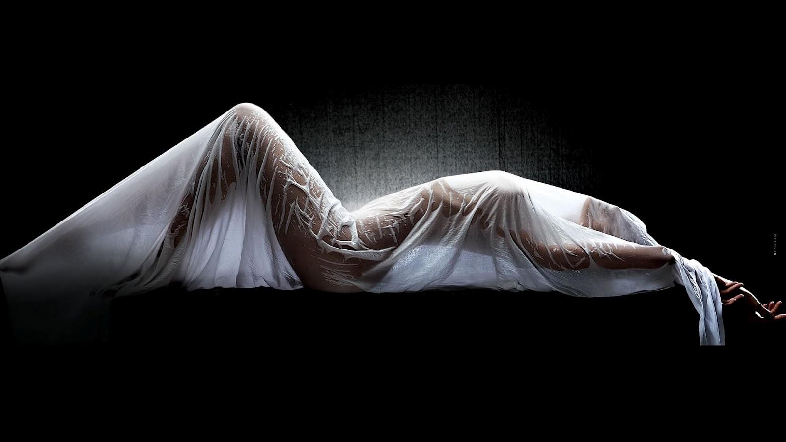 White curtain wallpaper - Wet White Curtain Wallpaper