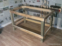 Workbench frame. This is an stable and steady table structure. Rummageinthegarage
